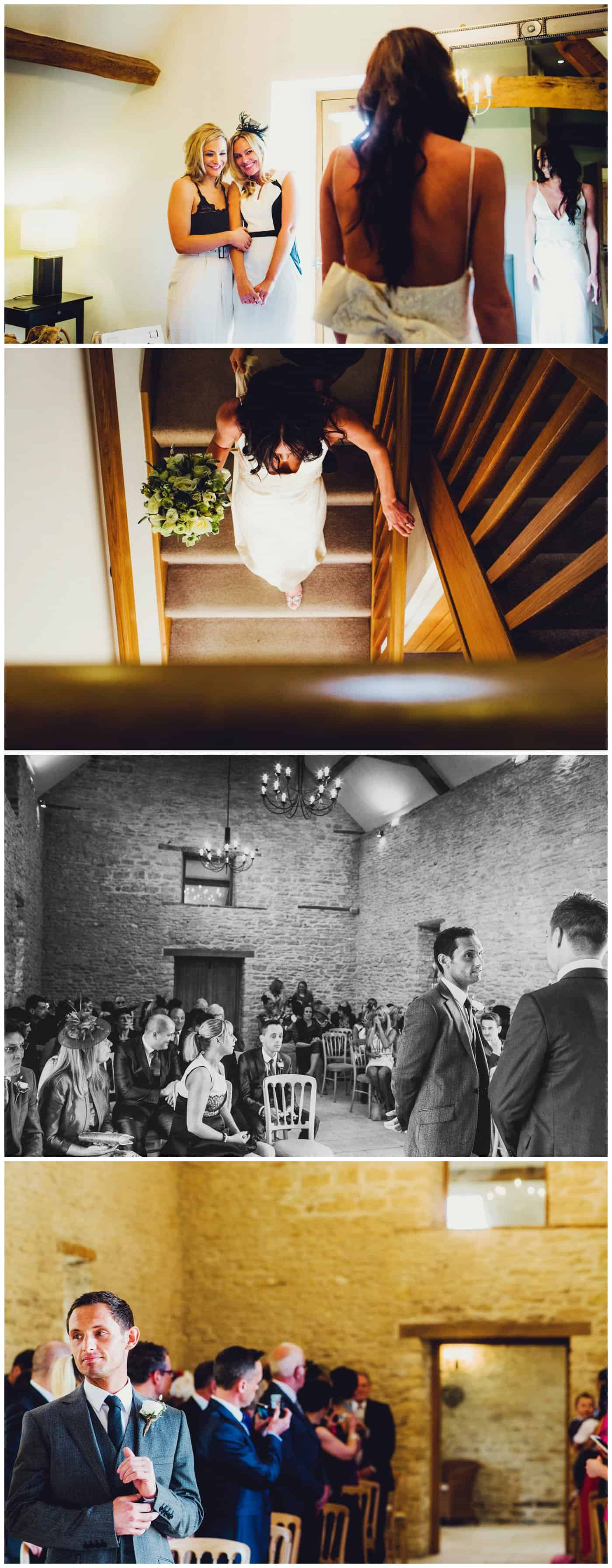 Kingscote Barn wedding photographer