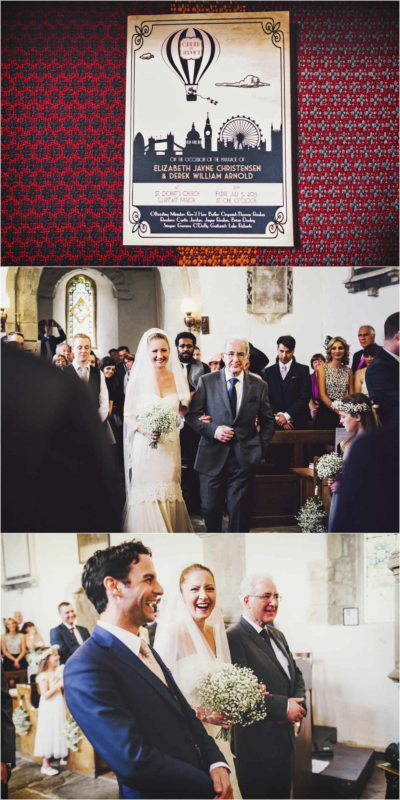 St Donat's Castle wedding