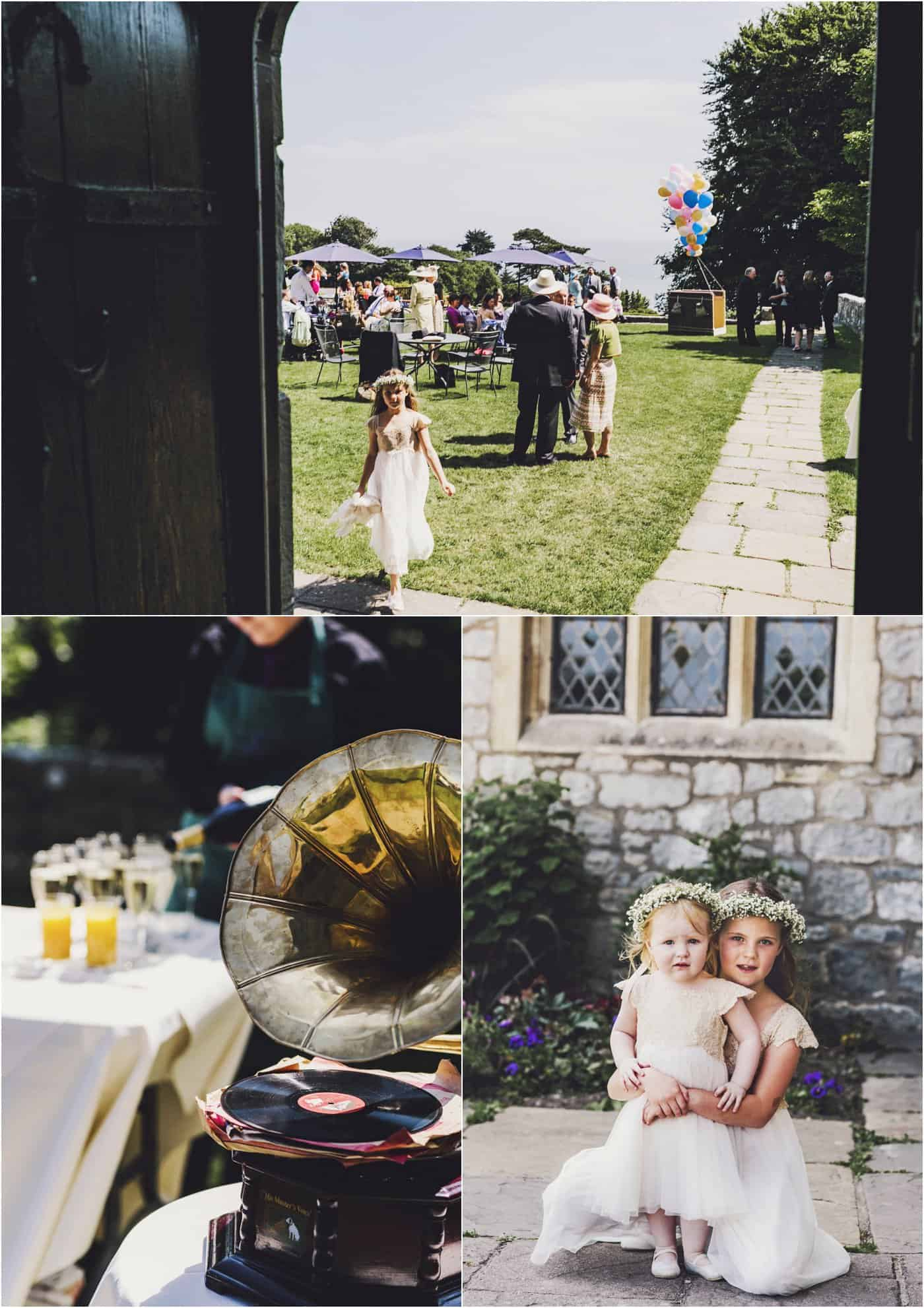 wedding photography at St Donat's Castle